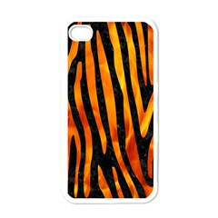 Skin4 Black Marble & Fire (r) Apple Iphone 4 Case (white) by trendistuff