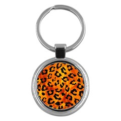 Skin5 Black Marble & Fire Key Chains (round)  by trendistuff