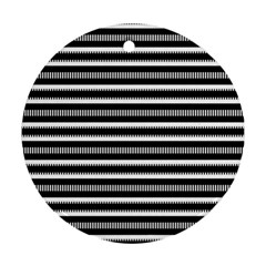 Tribal Stripes Black White Ornament (round) by Mariart