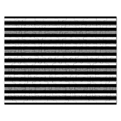 Tribal Stripes Black White Rectangular Jigsaw Puzzl by Mariart