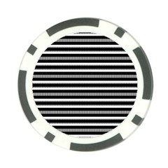 Tribal Stripes Black White Poker Chip Card Guard by Mariart
