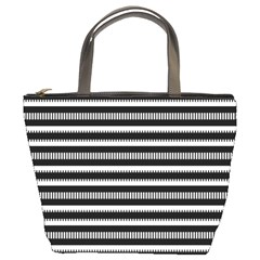 Tribal Stripes Black White Bucket Bags by Mariart
