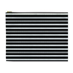 Tribal Stripes Black White Cosmetic Bag (xl) by Mariart