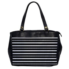 Tribal Stripes Black White Office Handbags