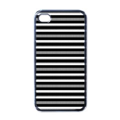 Tribal Stripes Black White Apple Iphone 4 Case (black)