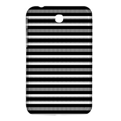 Tribal Stripes Black White Samsung Galaxy Tab 3 (7 ) P3200 Hardshell Case  by Mariart