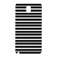 Tribal Stripes Black White Samsung Galaxy Note 3 N9005 Hardshell Back Case by Mariart