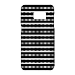Tribal Stripes Black White Samsung Galaxy S7 Hardshell Case  by Mariart