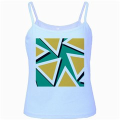 Triangles Texture Shape Art Green Yellow Baby Blue Spaghetti Tank