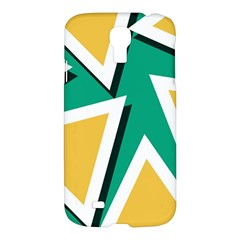 Triangles Texture Shape Art Green Yellow Samsung Galaxy S4 I9500/i9505 Hardshell Case by Mariart