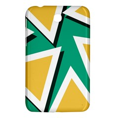 Triangles Texture Shape Art Green Yellow Samsung Galaxy Tab 3 (7 ) P3200 Hardshell Case  by Mariart