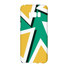 Triangles Texture Shape Art Green Yellow Samsung Galaxy S8 Hardshell Case  by Mariart
