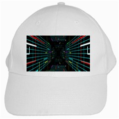 Seamless 3d Animation Digital Futuristic Tunnel Path Color Changing Geometric Electrical Line Zoomin White Cap by Mariart