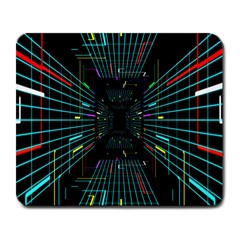 Seamless 3d Animation Digital Futuristic Tunnel Path Color Changing Geometric Electrical Line Zoomin Large Mousepads by Mariart