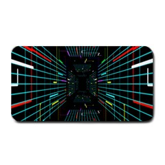 Seamless 3d Animation Digital Futuristic Tunnel Path Color Changing Geometric Electrical Line Zoomin Medium Bar Mats