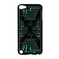 Seamless 3d Animation Digital Futuristic Tunnel Path Color Changing Geometric Electrical Line Zoomin Apple Ipod Touch 5 Case (black) by Mariart