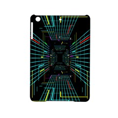Seamless 3d Animation Digital Futuristic Tunnel Path Color Changing Geometric Electrical Line Zoomin Ipad Mini 2 Hardshell Cases by Mariart