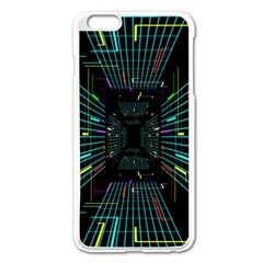 Seamless 3d Animation Digital Futuristic Tunnel Path Color Changing Geometric Electrical Line Zoomin Apple Iphone 6 Plus/6s Plus Enamel White Case by Mariart
