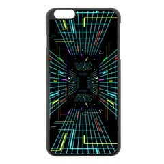 Seamless 3d Animation Digital Futuristic Tunnel Path Color Changing Geometric Electrical Line Zoomin Apple Iphone 6 Plus/6s Plus Black Enamel Case by Mariart