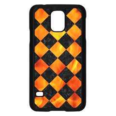 Square2 Black Marble & Fire Samsung Galaxy S5 Case (black) by trendistuff