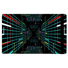 Seamless 3d Animation Digital Futuristic Tunnel Path Color Changing Geometric Electrical Line Zoomin Apple Ipad Pro 9 7   Flip Case by Mariart