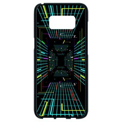 Seamless 3d Animation Digital Futuristic Tunnel Path Color Changing Geometric Electrical Line Zoomin Samsung Galaxy S8 Black Seamless Case