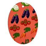 Vegetable Carrot Tomato Pumpkin Eggplant Ornament (Oval) Front