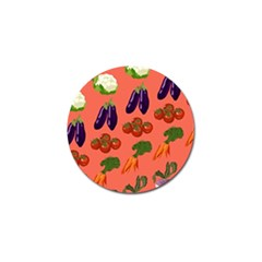 Vegetable Carrot Tomato Pumpkin Eggplant Golf Ball Marker (10 Pack) by Mariart