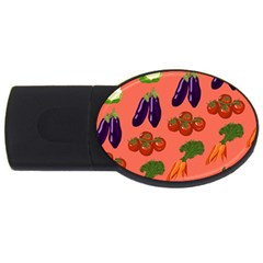 Vegetable Carrot Tomato Pumpkin Eggplant Usb Flash Drive Oval (2 Gb) by Mariart