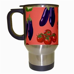 Vegetable Carrot Tomato Pumpkin Eggplant Travel Mugs (white) by Mariart