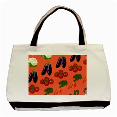 Vegetable Carrot Tomato Pumpkin Eggplant Basic Tote Bag by Mariart