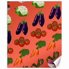 Vegetable Carrot Tomato Pumpkin Eggplant Canvas 16  X 20   by Mariart