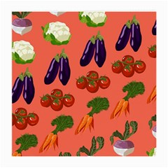 Vegetable Carrot Tomato Pumpkin Eggplant Medium Glasses Cloth (2 Side) by Mariart