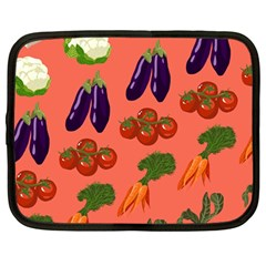 Vegetable Carrot Tomato Pumpkin Eggplant Netbook Case (large) by Mariart
