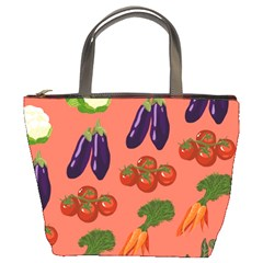 Vegetable Carrot Tomato Pumpkin Eggplant Bucket Bags by Mariart
