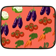 Vegetable Carrot Tomato Pumpkin Eggplant Fleece Blanket (mini) by Mariart