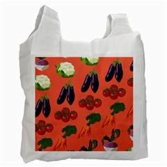 Vegetable Carrot Tomato Pumpkin Eggplant Recycle Bag (two Side)  by Mariart