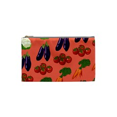 Vegetable Carrot Tomato Pumpkin Eggplant Cosmetic Bag (small)  by Mariart