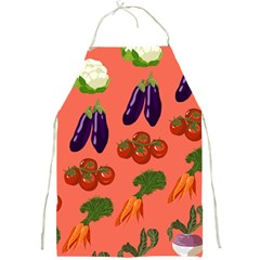 Vegetable Carrot Tomato Pumpkin Eggplant Full Print Aprons by Mariart