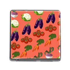 Vegetable Carrot Tomato Pumpkin Eggplant Memory Card Reader (square) by Mariart