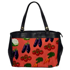 Vegetable Carrot Tomato Pumpkin Eggplant Office Handbags by Mariart