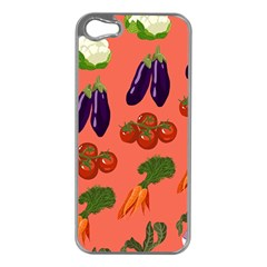 Vegetable Carrot Tomato Pumpkin Eggplant Apple Iphone 5 Case (silver) by Mariart