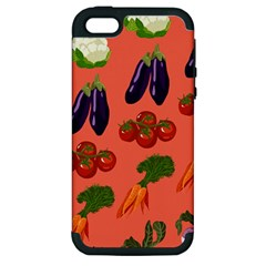 Vegetable Carrot Tomato Pumpkin Eggplant Apple Iphone 5 Hardshell Case (pc+silicone) by Mariart