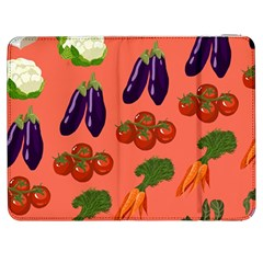 Vegetable Carrot Tomato Pumpkin Eggplant Samsung Galaxy Tab 7  P1000 Flip Case by Mariart