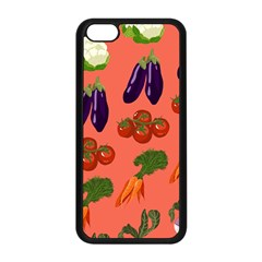 Vegetable Carrot Tomato Pumpkin Eggplant Apple Iphone 5c Seamless Case (black) by Mariart