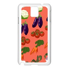 Vegetable Carrot Tomato Pumpkin Eggplant Samsung Galaxy Note 3 N9005 Case (white) by Mariart
