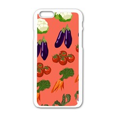 Vegetable Carrot Tomato Pumpkin Eggplant Apple Iphone 6/6s White Enamel Case by Mariart