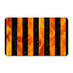 Stripes1 Black Marble & Fire Magnet (rectangular) by trendistuff