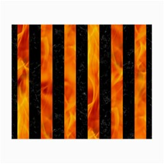 Stripes1 Black Marble & Fire Small Glasses Cloth by trendistuff