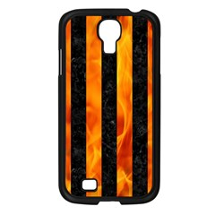 Stripes1 Black Marble & Fire Samsung Galaxy S4 I9500/ I9505 Case (black) by trendistuff